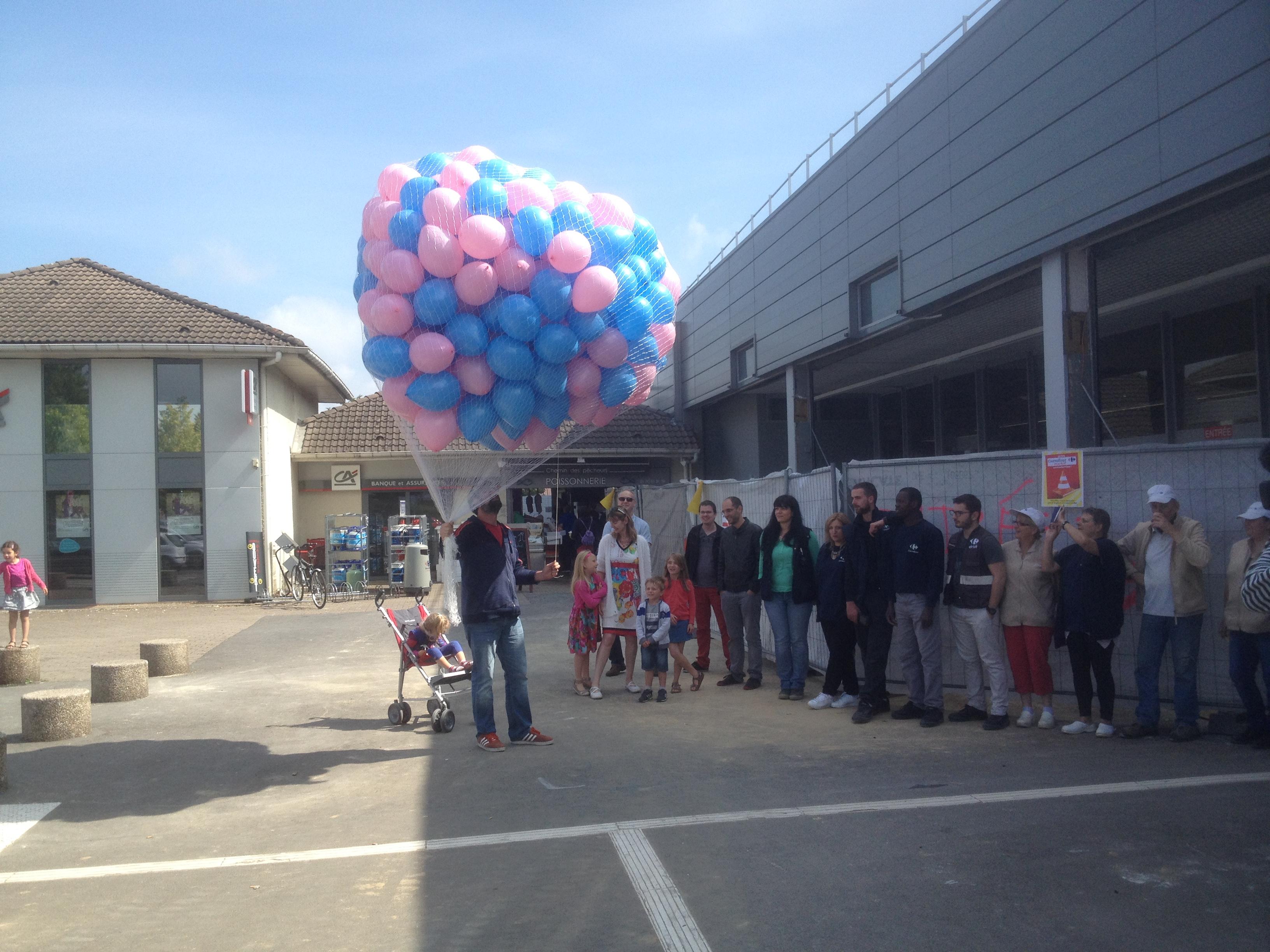 Lacher de Ballon Carrefour Market